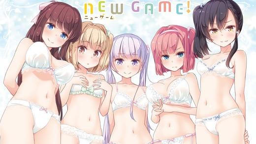 NEW GAME!、滝本ひふみ、飯島ゆん、涼風青葉、望月紅葉、鳴海ツバメ、下着姿、高画質、PC壁紙、画像