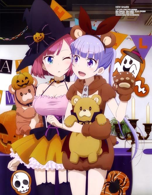 NEW GAME!!(2期)ハロウィン、ピンナップ画像