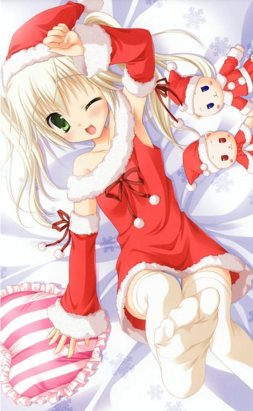 はつゆきさくら(シロクマ)サンタ服、可愛い画像