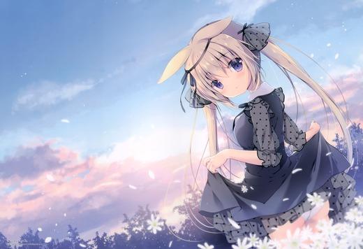 繋がる空の下のどこか【うさ耳ちゃん】パンチラ 画像(イラスト:宮坂みゆ)
