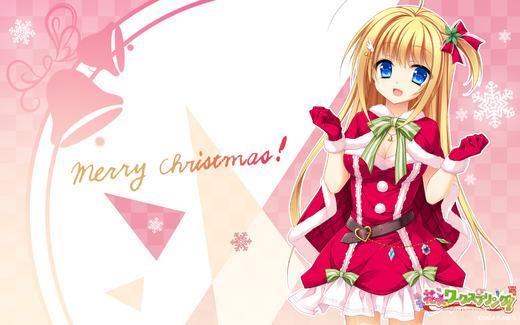 花咲ワークスプリング!(琴吹ヒカリ)クリスマス、サンタ服、壁紙、画像