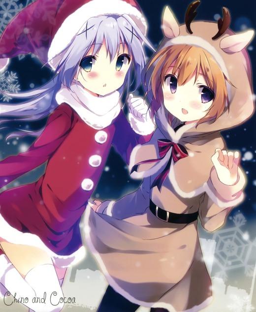 【同人】ご注文はうさぎですか?(チノ&ココア)クリスマスサンタ、可愛い画像