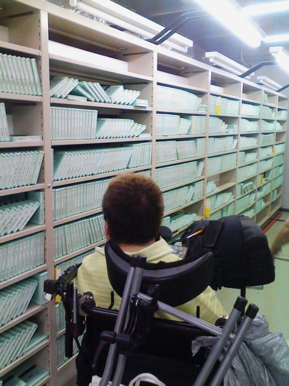 点字図書館の書庫