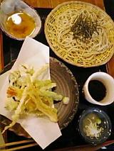 手打ちの信州そばと天ぷら。美味!