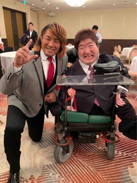 新日本プロレスの棚橋弘至選手と。今のプロレス界のエース!