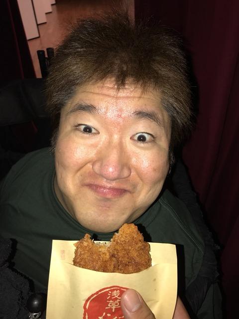 今話題の(!)浅草メンチ