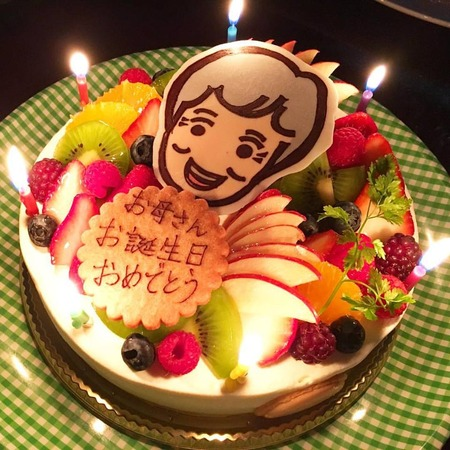 似顔絵ケーキ♪
