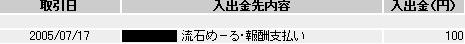 20050717流石めーる入金