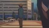 【ハルヒ13話】JR大阪駅前、正面は阪神百貨店