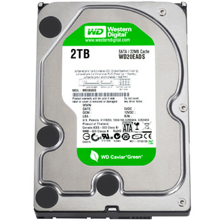 WESTERN DIGITAL 3.5インチ内蔵HDD 2TB 5400rpm 32MB SATA 3.5inch(GP300) WD20EADS