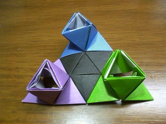 新しい立体的な折り紙を作ります                スバル