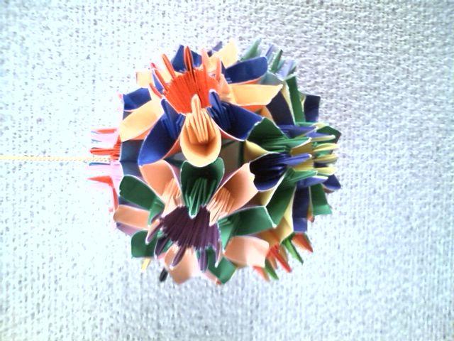 すべての折り紙 折り紙 ハート 鶴 : ... 立体的な折り紙を作ります