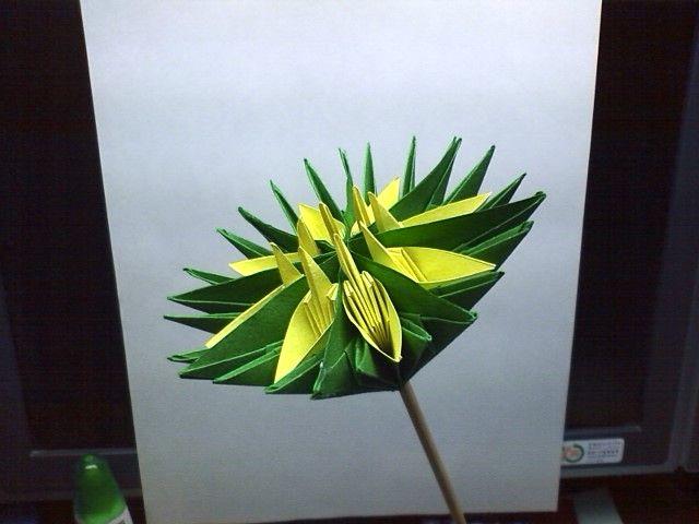 すべての折り紙 折り紙 鶴 イラスト : ... 立体的な折り紙を作ります
