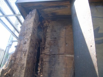 ベランダ手すり壁内側の腐食状況2