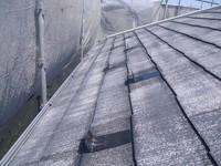 屋根雪止め金物の下と周りにシーラー先行塗付後