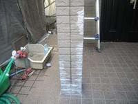 玄関柱「シープラ」塗付後