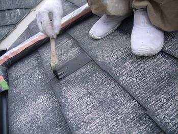 カラーベスト屋根雪止め金物の下塗