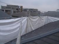 屋根外周部に防炎シート