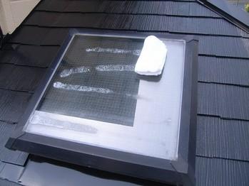 天窓の清掃