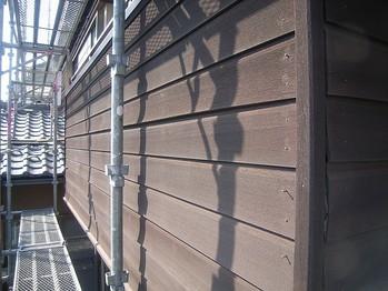 ベランダ手すり壁外側板張り/施工前