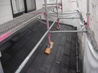 高圧洗浄後の下屋根