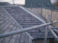 カラーベスト屋根板金部分錆止塗料塗付後