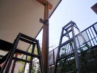 防犯灯とケーブルの復旧