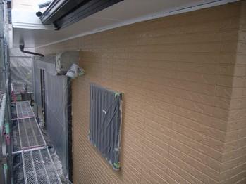 1階外壁塗装の仕上がり