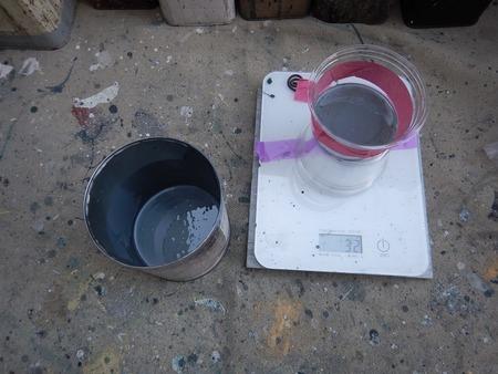 サイディング補修塗りのための塗料(自作)
