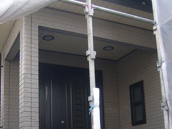 玄関天井部分 施工前状況