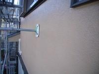 モルタル外壁Vカット部分の仕上がり