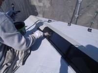 カラーベスト屋根棟包み板金塗装上塗1回目