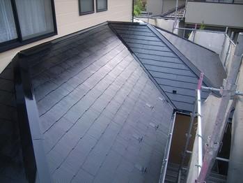 カラーベスト屋根塗装(下屋根)仕上がり