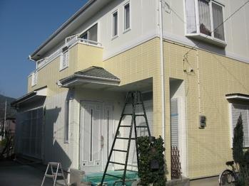 O邸DIY外壁塗装中 全景