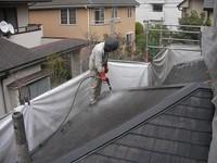カラーベスト屋根の洗浄