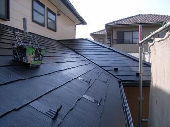 カラーベスト屋根塗装 上塗2回目
