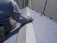 カラーベスト屋根棟包み板金中研ぎ