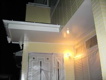 O邸DIY外壁塗装中 軒裏の仕上がり