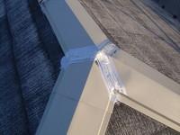 大屋根棟包み板金接合部