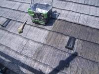 カラーベスト屋根シーラー塗装状況