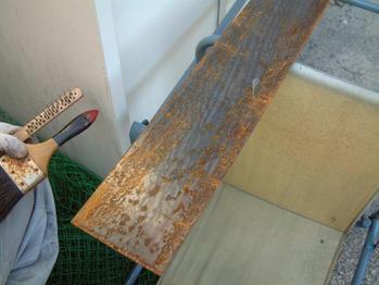 錆びた鉄板