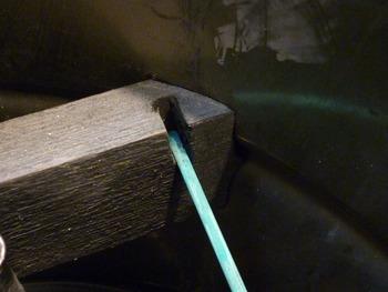 ペール缶刷毛保管容器 木材端部