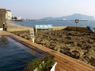 砂むし温泉と露天風呂