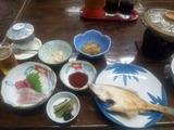 朝日屋旅館夕食1