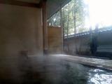 さぎの湯朝の露天2