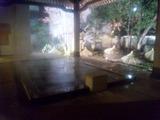 さぎの湯夜の露天2