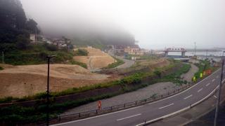 津波被害の島越駅前