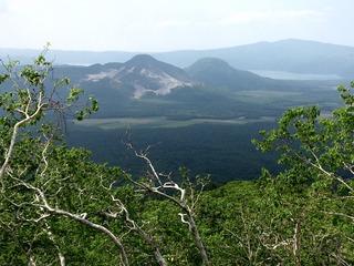 硫黄山と屈斜路湖1