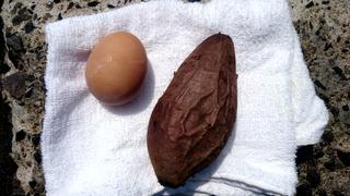 巣目の卵と唐芋