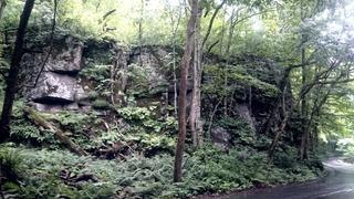 奥入瀬平成の崖崩